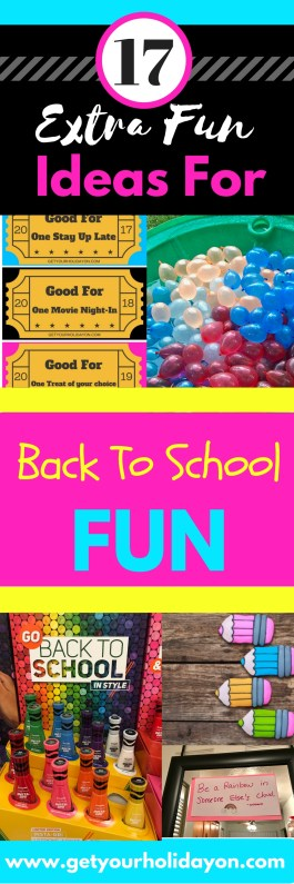 How To Make Back To School Extra Fun with these 17 ideas. Great ideas for creating that special memory for your children with extra school jitters.
