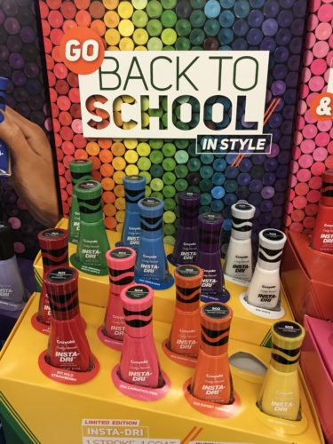 Take the day before or a couple days prior to school starting and do your daughter's nails. This will be such a fun and stylish way to go back to school with pretty nails. It will make for great mom & daughter time too. :) Check out this special Limited EditionSally Hansen Insta Dri Crayola Nail Polish for back to school fun.
