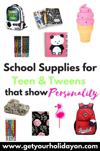 We have searched the internet high and low and found the coolest school supplies with personality on the web for tweens and teens! Items range from pencils to backpacks!