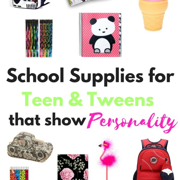 School Supplies for Teen and Tweens with...