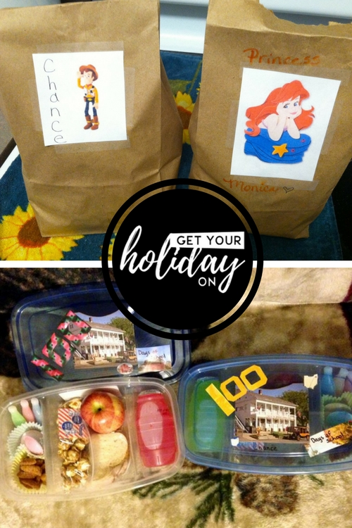 Another extra fun back to school idea is to create special school lunches. In these lunches you could add print out their favorite character and add their name to the bag. I also added in an extra cut out character to surprise them inside the bag. Another surprise fun idea would be to create a special themed lunch.