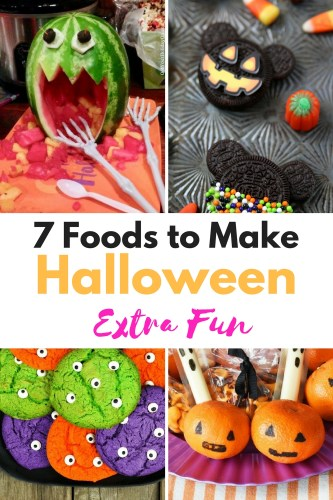 7 Foods to Make Halloween Extra Fun| Do you want to add something to your son or daughter's school lunch? Maybe you're having a Halloween party. These frightfully fun and not so spooky Halloween foods are the perfect themed food idea to surprise your kids.