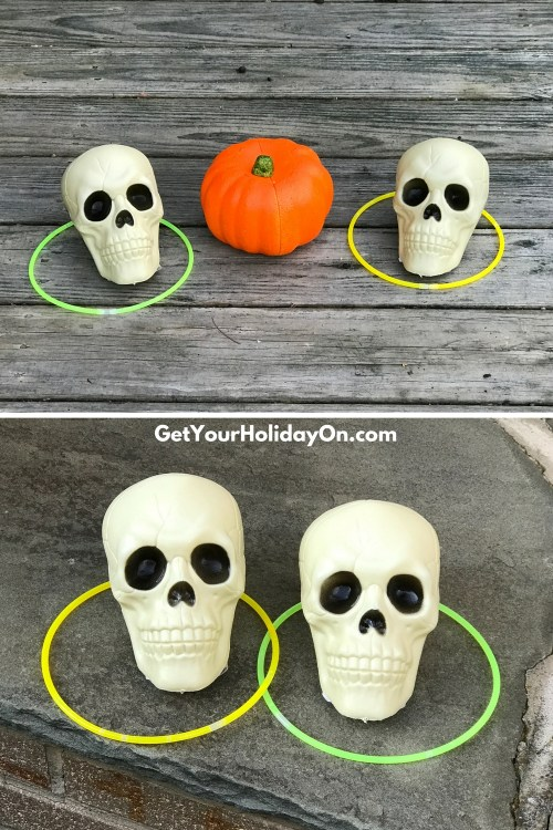 5 Easy & Simple Halloween Games Lastly, another fun, easy, and simple games for a Halloween bash is to combine all of the items together and create a ring toss. The more targets they have to throw the ring on the more exciting the game gets.  Halloween Bash Ring Toss Game