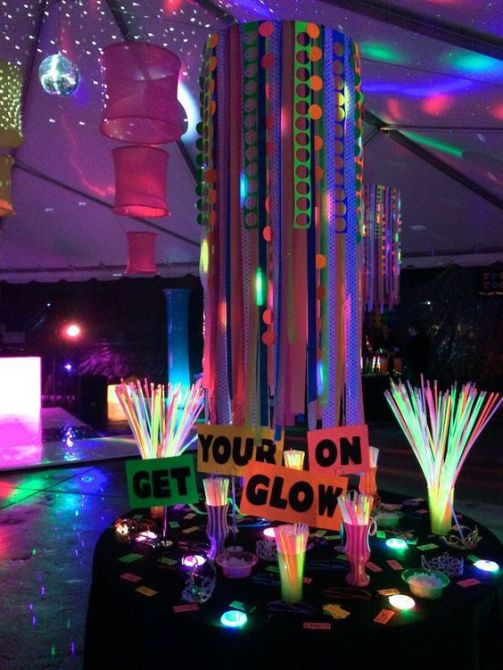 7 Ways To add Coolness to your party Glow in the dark if you are having a night party or slumber party kids and teenagers LOVE glow in the dark items.
