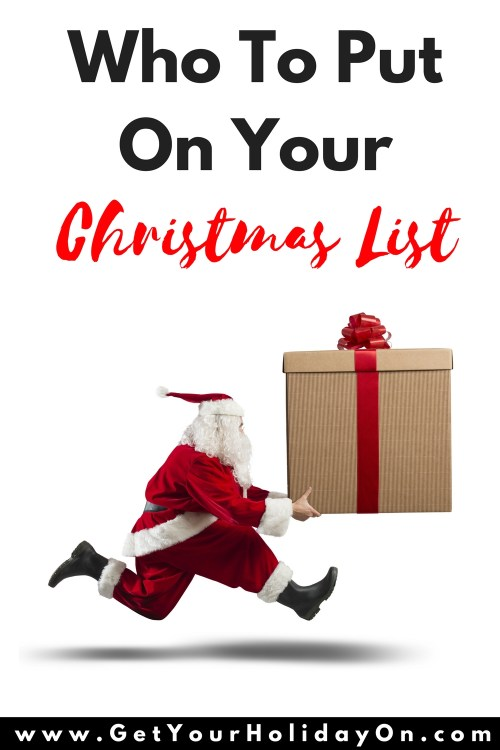 Creating a Christmas list? Need help trying to figure out everyone you should add to your list? Creating your Christmas list can be a little daunting at first, but planning ahead can really pay off, both for peace of mind and also to make sure that all the people who are most important in your life feel remembered. It may take a little thinking and budgeting to get it right, but the benefits are worth all the effort.