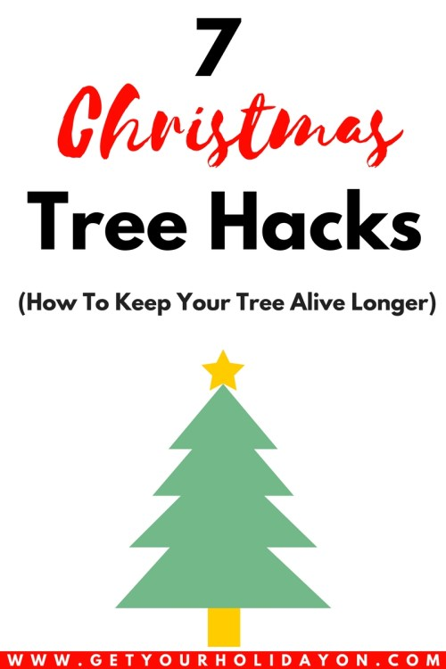 7 Christmas Hacks To Help Keep Your Tree Alive Get Your