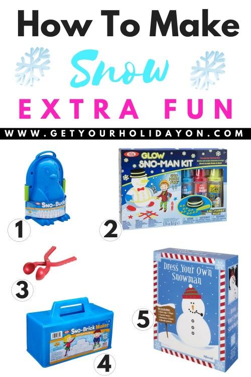 How To Make Snow Extra FUN #snow #kids #moms #Christmas
