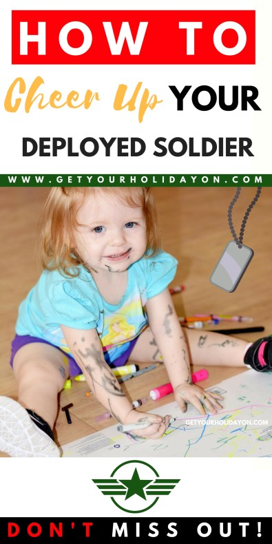 Don't miss these unique and fun ways to brighten your soldier's day while they're deployed overseas. #longdistance #military #veteran #deployment