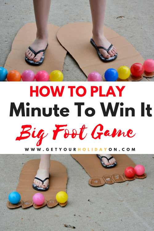 Minute To Win It Big Foot Game Race #minutetowinit #diycrafts #momlife #Party