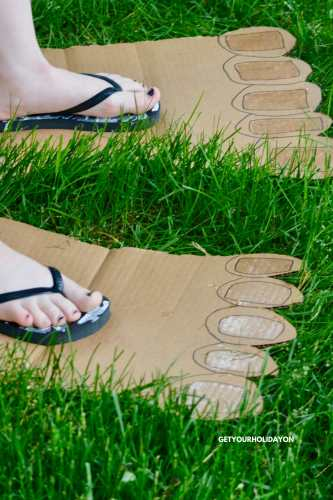 Find Out the Best Part About this Hilarious Big Feet Game #feet #games #momlife #diysummer