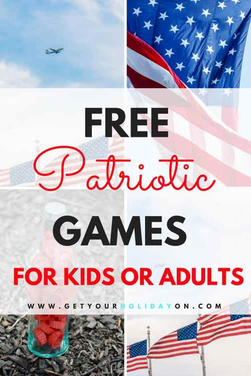 Free Patriotic Games for Kids and Adults #patriotic #DIY #memorialday #4thofjuly