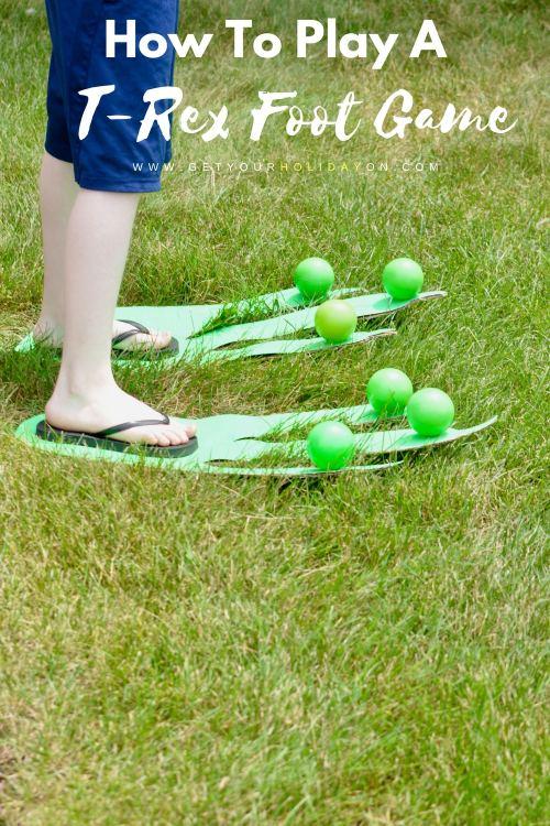 How To Play A T-Rex Foot Game #diysummer #diycrafts #disney #party