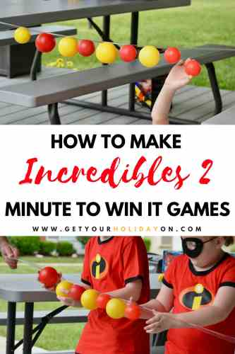 Minute to Win It Incredibles Party Games #party #minutetowinit #momlife #Disney