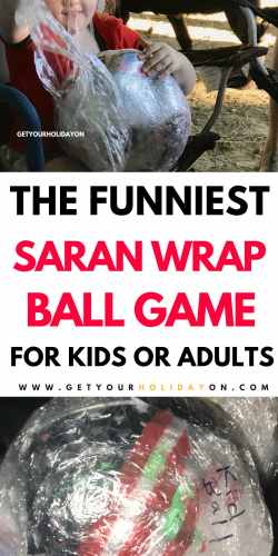 I think it's safe to say this plastic Wrap Ball Game for Kids or Adults gets better and better each year! It's never too late to start a new tradition of fun. Pick random things or super fun prizes, just don't miss the chance to delight your friends with this easy to make fun saran wrap ball. #play #party #diysummer #momlife
