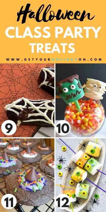 Easy Halloween Classroom Treats #halloween #diyhalloween #DIYS #momlife