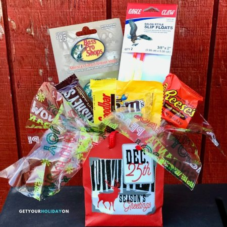 Fishermen Gift Basket for avid fishing guys! #lures #fishing #giftbasket #boats
