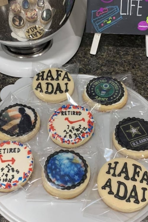 DIY Edible US Army Retired Cookie Designs for your soldier!