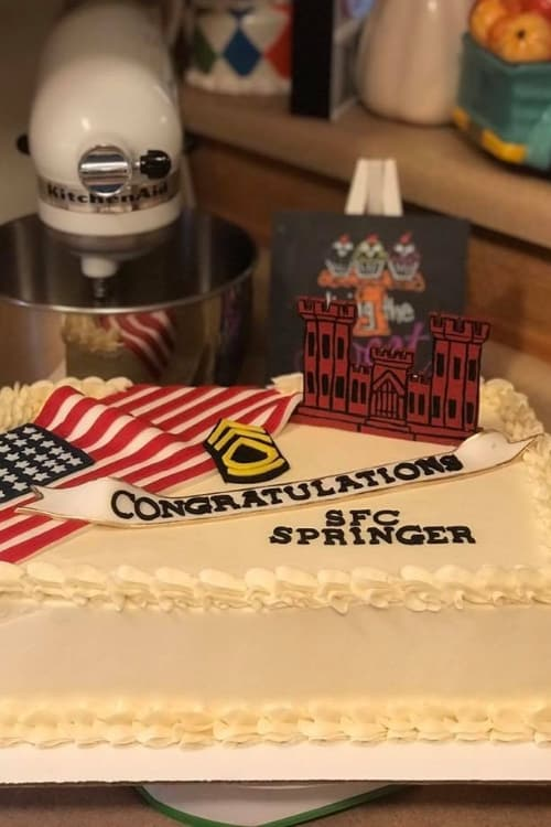 Simple army cake with a unique military-themed cake design!