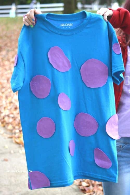 How to make easy Best friend costumes like Mike and Sully from Monsters Inc!