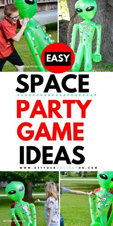 Space party game ideas for kids birthday