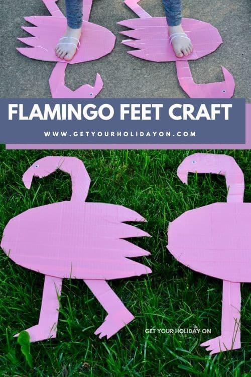 If you like cardboard feet you'll love our pink bird tutorial.