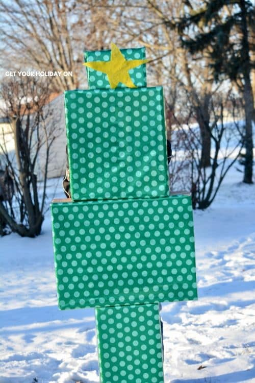 Our surprise DIY Christmas tree for our kids after school.