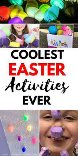 Mom's everywhere check out the coolest Easter Activities ever created for kids! This roundup will be the perfect set you're looking for! #easter #diys #easterbunny #momlife