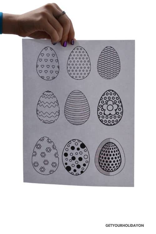 Easy easter printable for the classroom or for home school.