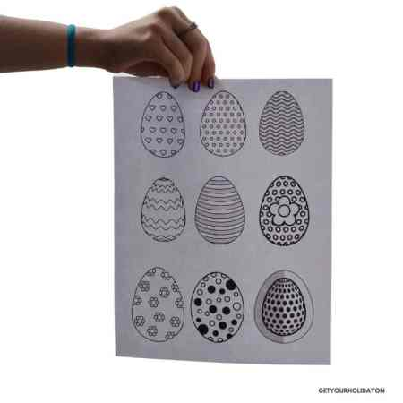 Free egg templates for Easter