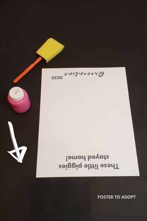 Showing example of which way to turn the page for this easy kids craft idea.