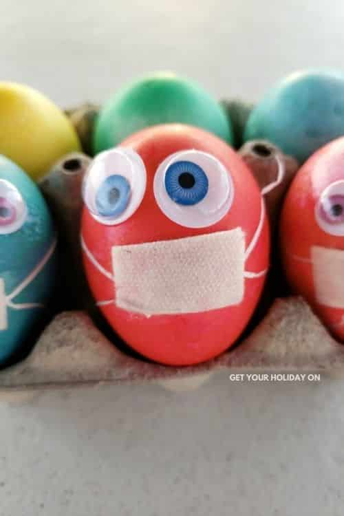 DIY Easter eggs with Masks for April 2020.