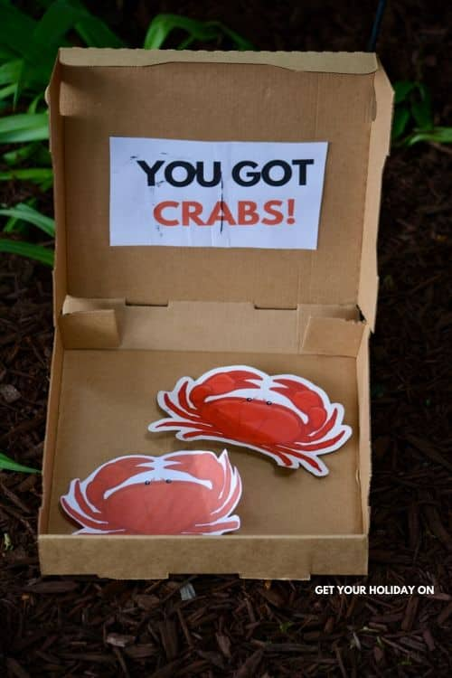 Crabs a funny door prize for adults.