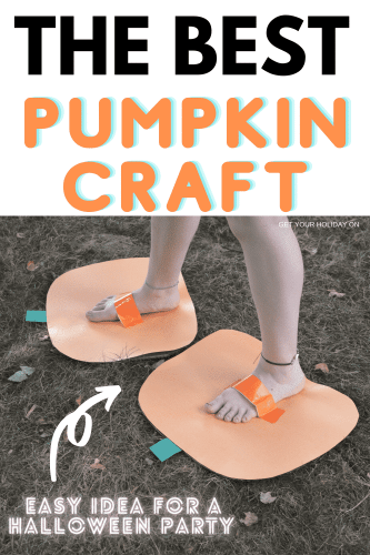 Easily put this pumpkin craft together with kids and create a party idea that the whole family can enjoy!