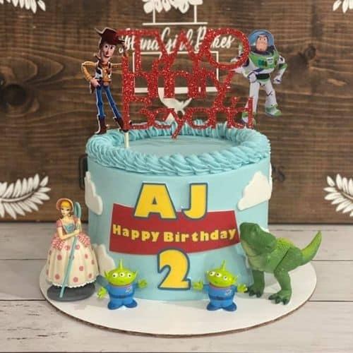 Pixar toy story cake Andys toys