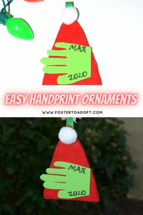handprint crafts that you can turn into ornaments for a Christmas tree.