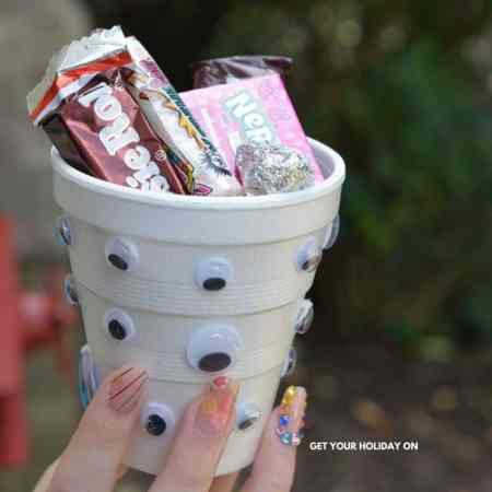 craft with google eyes and put onto a cup