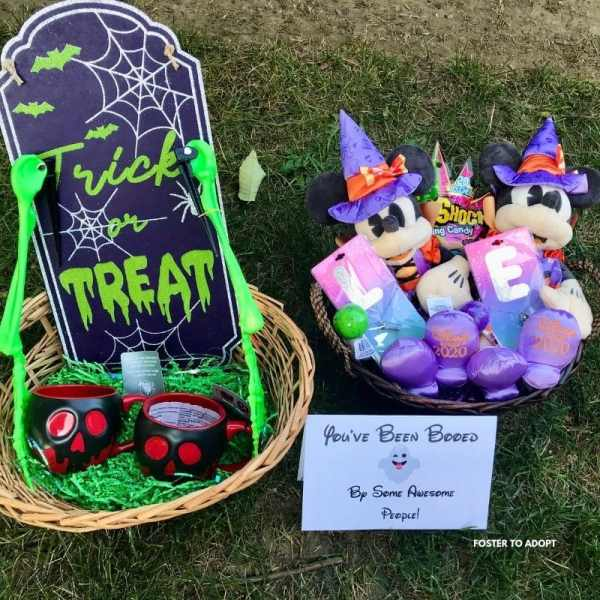 Disney style boo basket for kids and adults