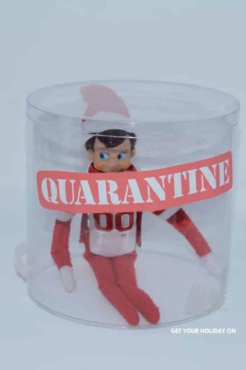 Elf boy put in isolation for 14 day quarantine.