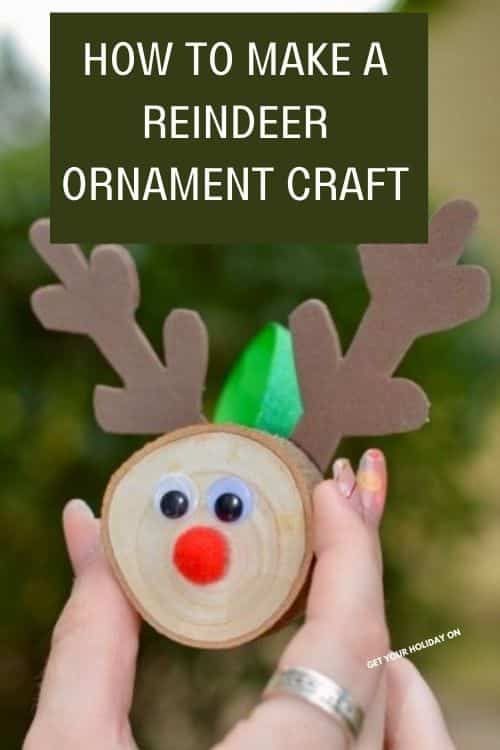 How to make a reindeer ornament craft