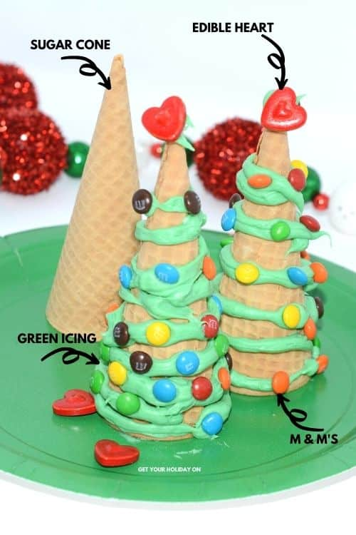 Ice cream cone Christmas tree