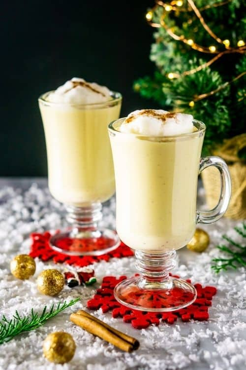 buddy egg nog maple drink for party.