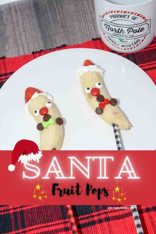 Santa fruit pops are so good that the kids will want to eat them for breakfast, lunch, and dinner! A healthy treat for kids!