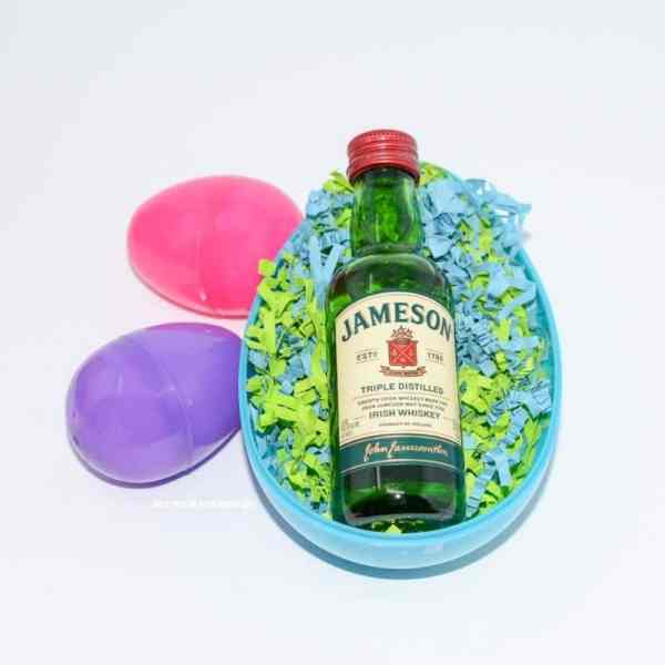 Booze Easter egg hunt boozy eggs idea.