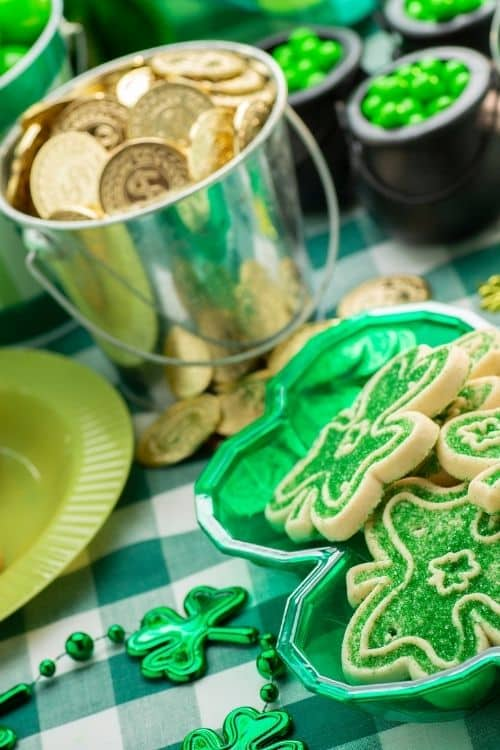 The gold coins you could win for the right answer to would you rather st. Patrick's day questions.
