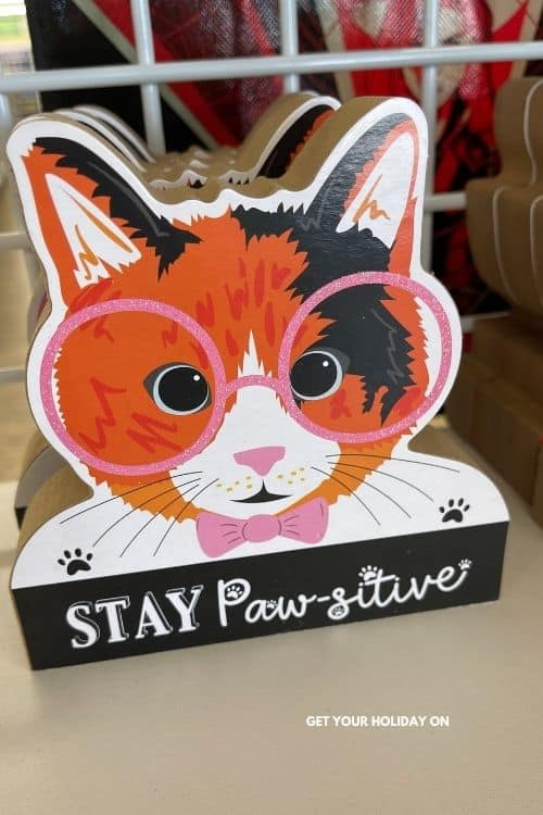 Shower prizes for games a cat quote sign.