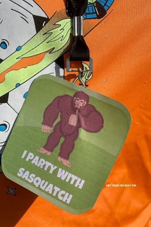 a kid wearing this I party with sasquatch printable.
