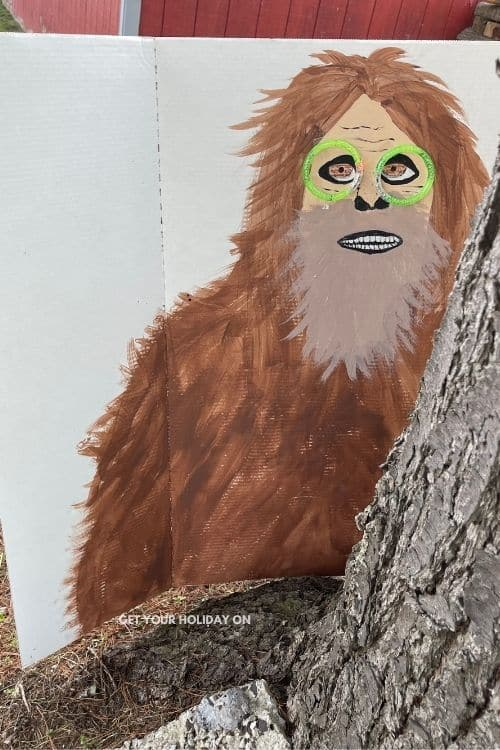 Supplies you will need to make this finding Bigfoot game and get it ready for hide and seek.