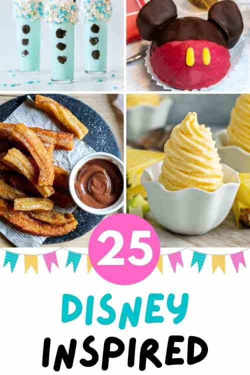 Disney inspired recipes food and snack ideas.