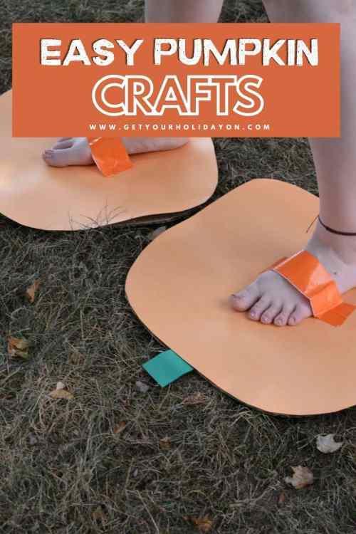 Easy pumpkin crafts.