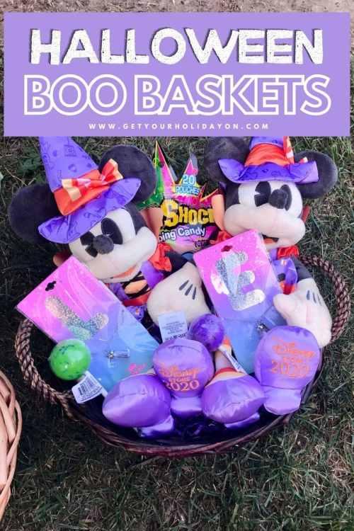 Minnie Mouse halloween boo baskets